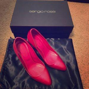Sergio Rossi pink high heel pumps